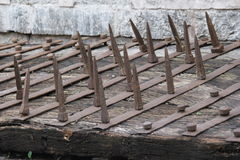 Big Iron Spikes Royalty Free Stock Photography