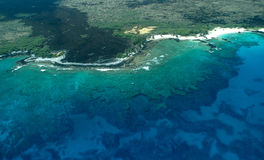 Big Island aerial shot - beach Royalty Free Stock Photography