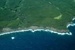 Big Island aerial shot - coastline Stock Images