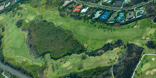 Big Island aerial shot - golfing. Big Island aerial shot, golfing, Hawaii royalty free stock images