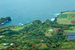 Big Island aerial shot - hilo coastline Stock Photography
