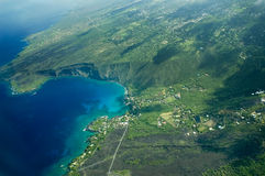 Big Island aerial shot - Kealakekua Bay Stock Photos