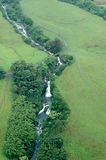 Big Island aerial shot - waterfalls Royalty Free Stock Photography