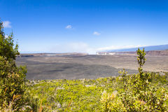 Big island hawaii kilawea heart of the volcan. In summer Royalty Free Stock Photography