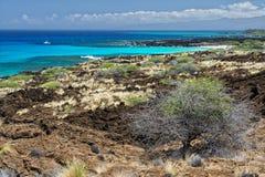 Big island hawaii lava and sea Royalty Free Stock Photography