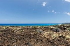 Big island hawaii lava and sea Royalty Free Stock Photos