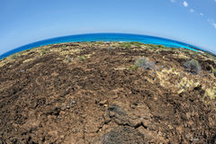 Big island hawaii lava and sea Stock Image