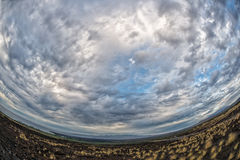 Big island hawaii lava and sea Stock Images