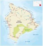 Big Island, Hawaii road map Royalty Free Stock Images
