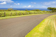Big island hawaii road to the ocean Royalty Free Stock Images