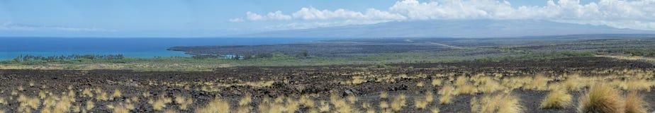 Big island lava coast Royalty Free Stock Images
