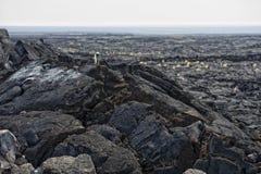 Big island lava fields Stock Photo