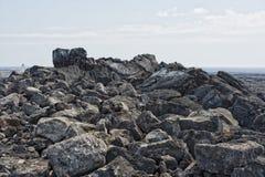Big island lava fields Royalty Free Stock Photo