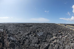 Big island lava fields Stock Photography