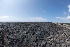 Big island lava fields Stock Photography