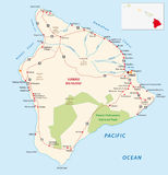 Big island map Royalty Free Stock Image