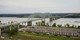 Big island in Mississippi river Stock Image