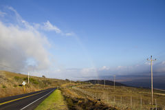 Big Island Rainbow Road Royalty Free Stock Images