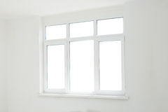 Big isolated window in the room Stock Photography