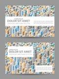 Big isometric city Royalty Free Stock Photos