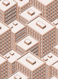 Big isometric city with tall buildings Royalty Free Stock Photography
