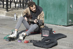 Busker stock photography