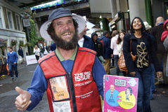 Big Issue salesman Stock Photography
