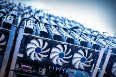 Free Big IT Machine With Fans. Cryptocurrency Mining Stock Photos - 105707153