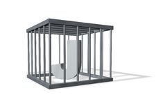 Big J in a cage Royalty Free Stock Photography