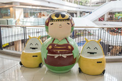 Big japanese kokeshi dolls in Gateway Ekamai department store, one of the most famous Japanese dolls and toys Stock Photo