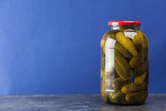 Big jar with pickles Royalty Free Stock Photo