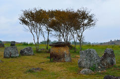 Big jar in Plain of Jars in Xieng Khouang Stock Photos