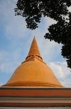 Big Jede or Stupa is bigger in Thailand. Prapratom jedee in Nakornpratom province Royalty Free Stock Images
