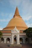 Big Jede or Stupa is bigger in Thailand. Prapratom jedee in Nakornpratom province Stock Photo