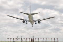 Big jet plane landing Royalty Free Stock Images