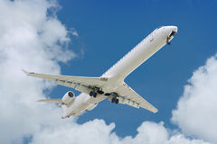Big jet plane taking off Stock Photography