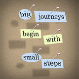 Big Journeys Begin With Small Steps Royalty Free Stock Photos