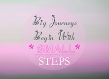 Big journeys begin with small steps Royalty Free Stock Images