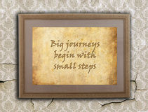 Big journeys, small steps Stock Photography
