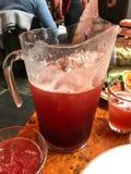 Big jug of alcoholic cocktail Stock Photo