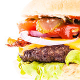 Big juicy burger detail Stock Image