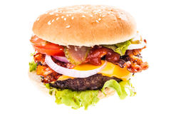 Big juicy cheeseburger Stock Photo