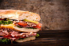 Big juicy sandwich Royalty Free Stock Photo