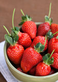 Big, juicy strawberries in a bowl Royalty Free Stock Photo