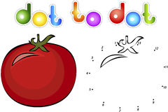 Big and juicy tomatoes. Educational game for kids: connect numbe Royalty Free Stock Image