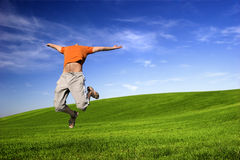 Big Jump Stock Image