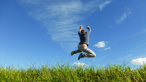 A big  jump to the sky Royalty Free Stock Photo