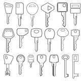 Big Key collection Royalty Free Stock Photos