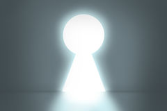 Big keyhole exit. Royalty Free Stock Photo