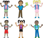 Big Kids of all races at School Royalty Free Stock Photos